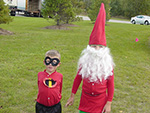 Mr Incredible and Garden Knome Costumes